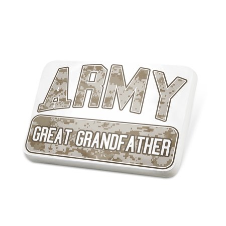 Porcelein Pin ARMY Great Grandfather, Camo Lapel Badge – NEONBLOND