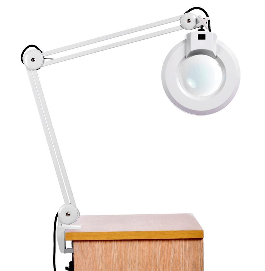 110V 8X Magnifying Lamp Desk Table Clamp Rolling Adjustable Lamp Light Magnifying Glass Len US Plug by