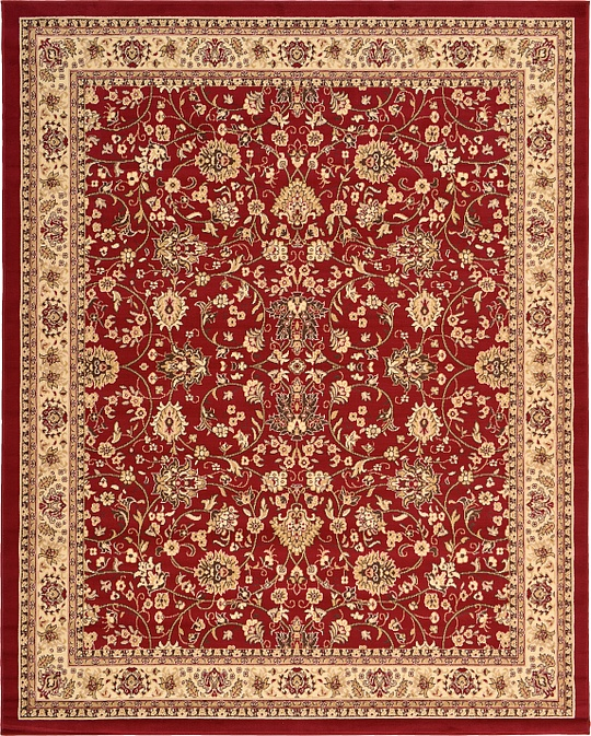 Unique Loom Kashan Red Area Rug