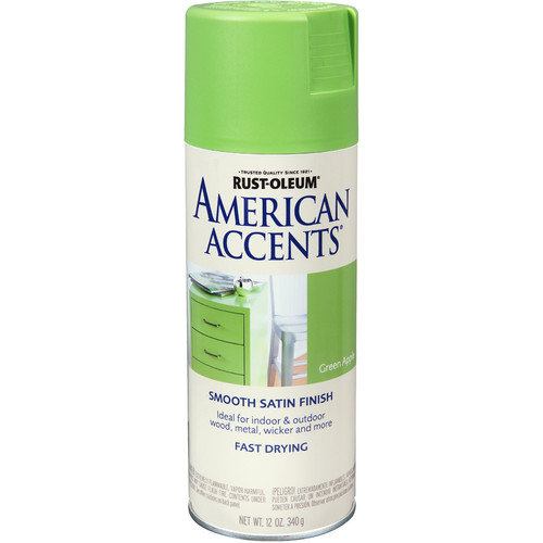 AmericanAccents 12 Oz Green Apple American Accents  Spray Paint Satin (Set of 6)