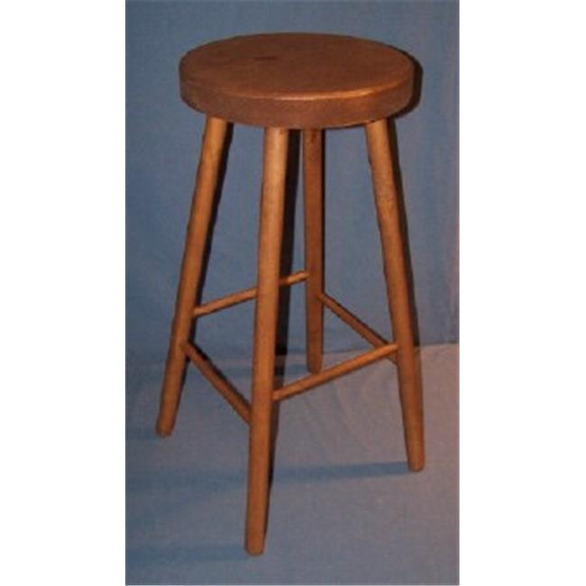 THE PUZZLE-MAN TOYS W-2472 Functional Wooden Furniture - Stool - Kitchen/Bar 4 Legged - 13 inch Dia.  Seat & 29 inch Tall