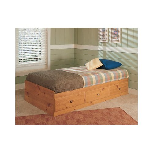 Bundle-99 New Visions by Lane Mountain Pine Mates Twin Platform Bedroom Collection (3 Pieces)