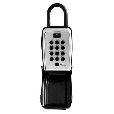Combination Key Box (Master Lock Lock Box 5422D Set Your Own Combination Push Button Portable Key Safe, 3-1/8 in. Wide )