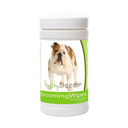 Healthy Breeds Dog Grooming Wipes - Over 80 Breeds - With Aloe and Oatmeal - 70