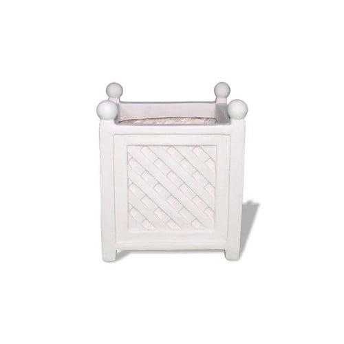 Amedeo Design Lattice Resin Stone Planter Box Walmart Com