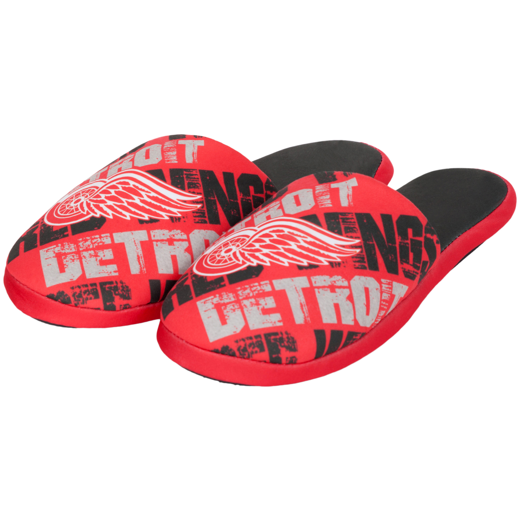 Detroit Red Wings Digital Print Slippers - Red