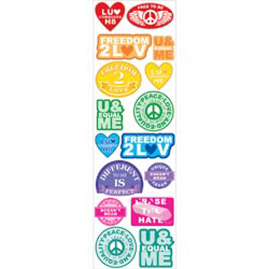 Love Conquers Labels - Sticko Stickofy Stickers