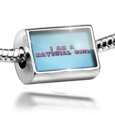Neonblond Charm I Am A Material Girl Felt Fabric Hand Made 925 Sterling Silver Bead Handmade Felt Jewelry