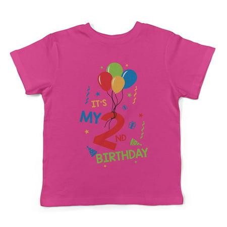 2nd Birthday Shirt (Lil Shirts It,s My 2nd Birthday Toddler T-Shirt -)