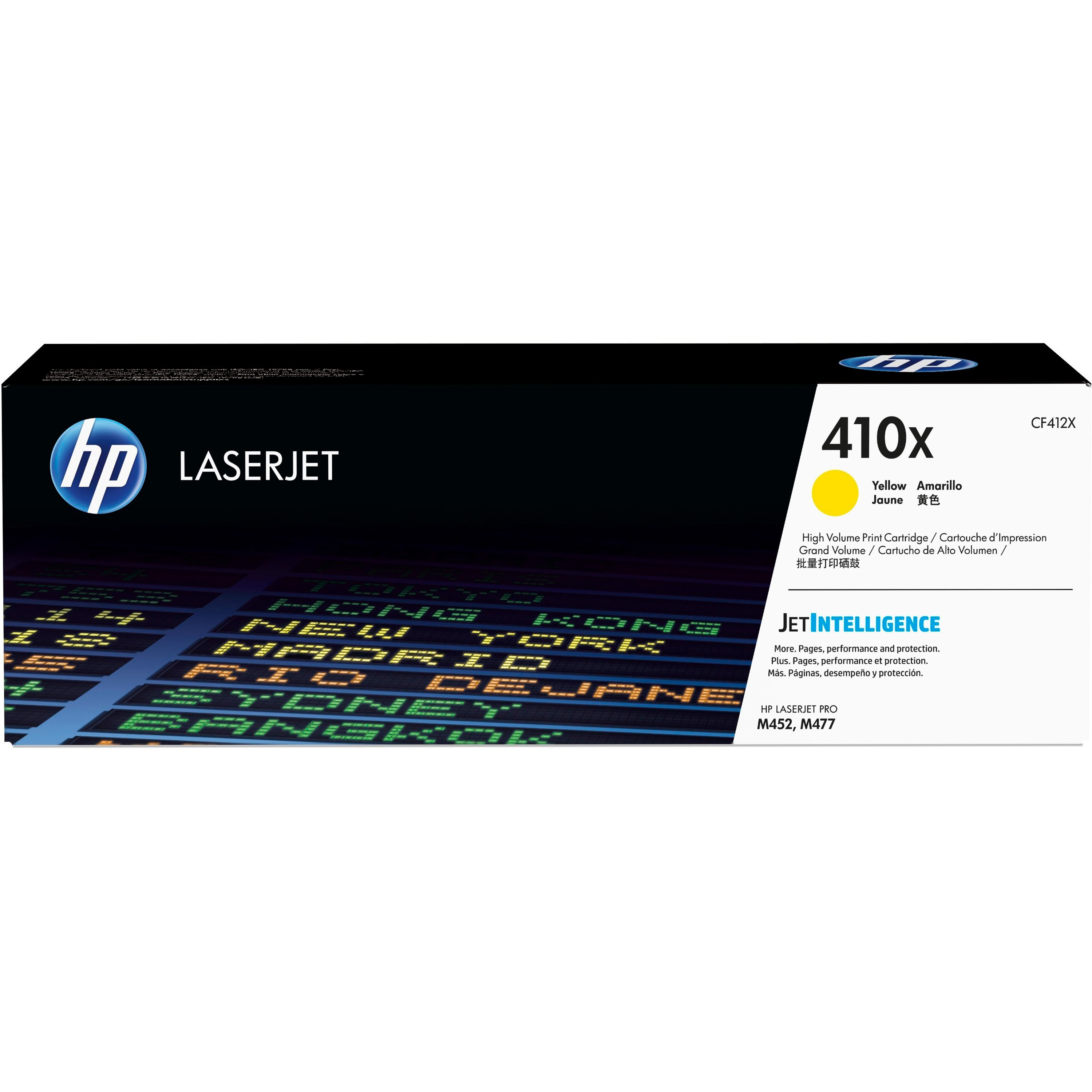 HP 410X (CF412X) Yellow High Yield Original LJ Toner Cartridge