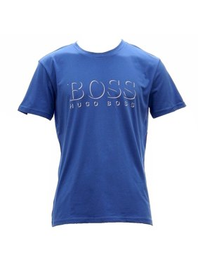 d5ed24744 Product Image Hugo Boss Men's Cotton Logo Light Blue Short Sleeve T-Shirt