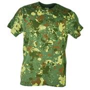 Spattered Camouflage Color Paint Design Green Plain Men Adult Tshirt Tee XLarge
