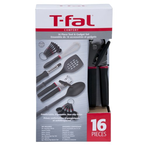 T-fal Comfort Kitchen Tool and Gadget Set, 16 Pieces