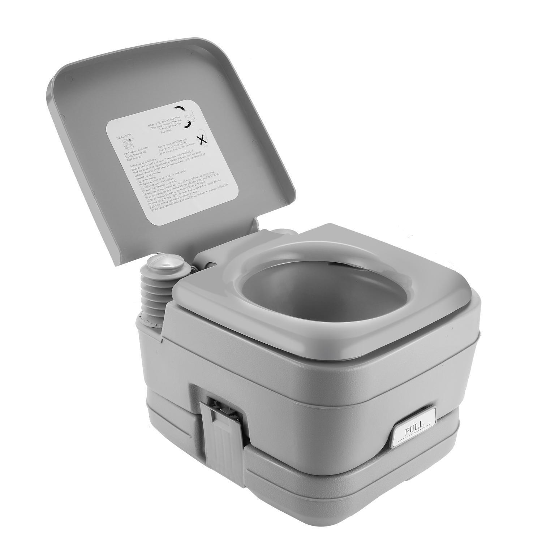 Outdoor Toilet  Portable Travel Camping Toilet Potty Flus...