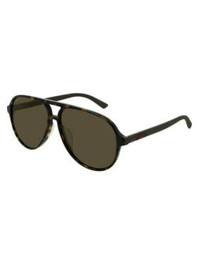 Gucci GG0423SA 002 Sunglasses Havana Brown Frame Brown Lenses 60mm