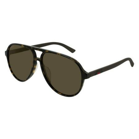 Gucci GG0423SA 002 Sunglasses Havana Brown Frame Brown Lenses (Gucci Sunglasses Men's)