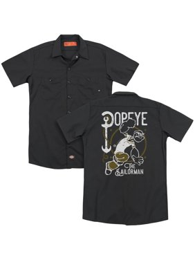 Popeye - Vintage Sailor (Back Print) - Work Shirt - X-Large