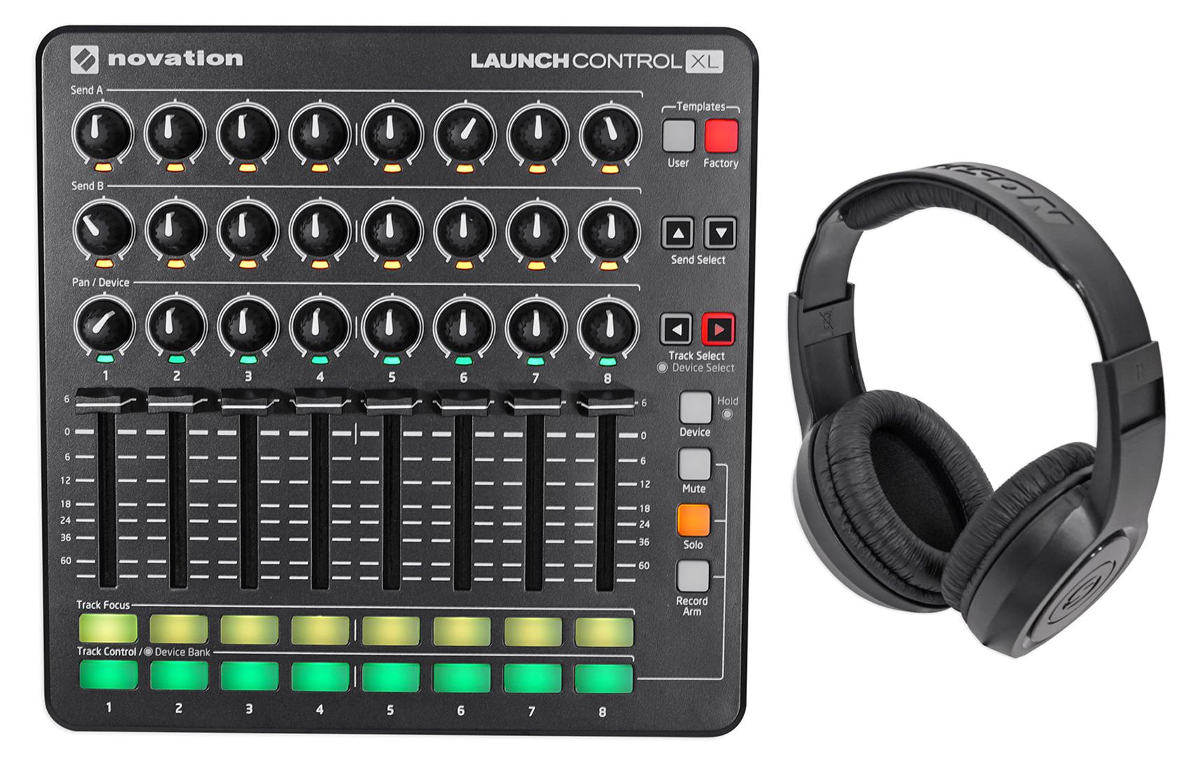 Novation Launch Control XL MIDI USB Ableton Live HUI Controller + Headphones ! by NOVATION