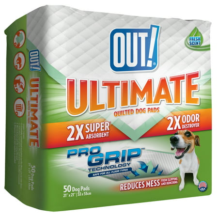 Out  Ultimate Pro Grip Dog Pads  21 X 21  50 Pads