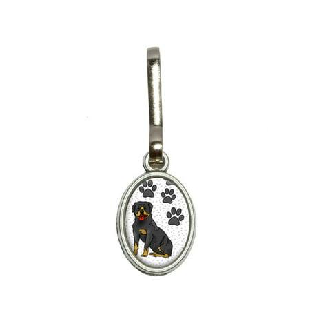 Rottweiler of Stature Oval Zipper Pull (Novelty Zipper Pulls)