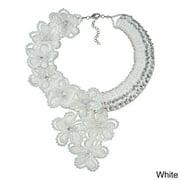 Aeravida Handmade Infinite Blossoms Dazzling Crystals Statement Necklace (Thailand)