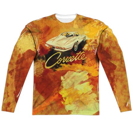 Chevrolet Autos Corvette Sting Ray Painting Adult Front Back Print Poly Crewneck