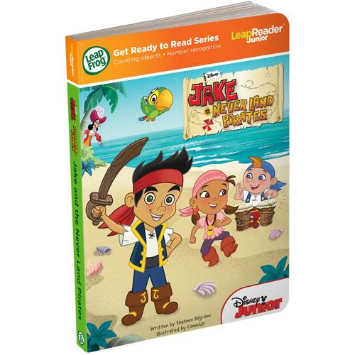 LeapFrog LeapReader Junior Book: Disney's Jake and the Never Land Pirates (works with Tag Junior)