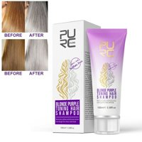 Purple Shampoo Blonde Bleached Removes Yellow and Brassy Tones Hair Shampoo
