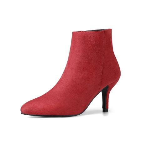 8079852b872e Unique Bargains - Women s Pointed Toe Stiletto Heel Ankle Booties ...