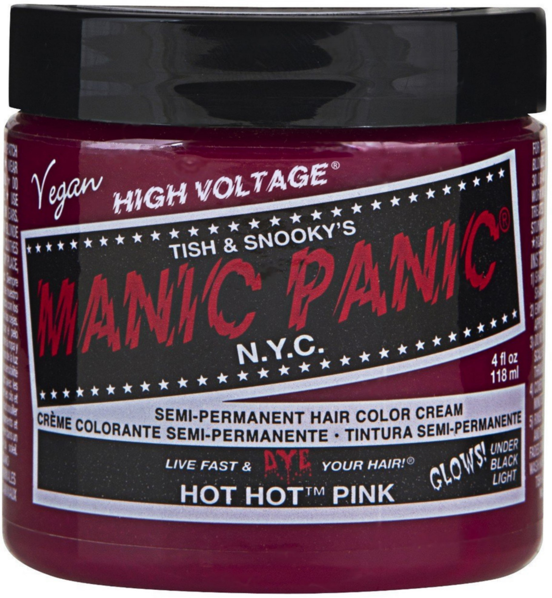MANIC PANIC Classic High Voltage Semi-Permanent Hair Color 4 Oz, Vampire Red