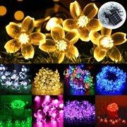 7m 50LEDs Solar String Lights Flower Bulbs Solar Garden Waterproof Decorative Light