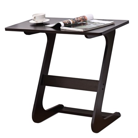 Costway Sofa Table End Side Table Console Snack TV Coffee Tray PC Laptop Desk Z-Shape ()