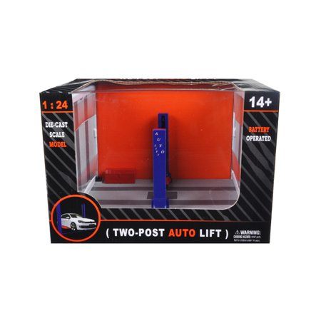 Battery Operated Two Post Auto Lift For 1/24 Scale Diecast Model Cars