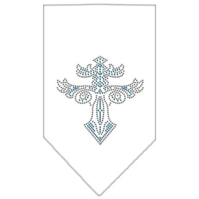 Warriors Cross Rhinestone Bandana White Large - image 1 de 1