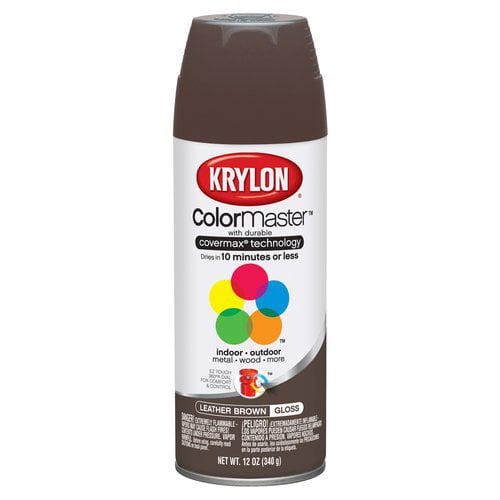 Krylon 52501 Leather Brown Interior and Exterior Decorator Paint - 12 oz. Aerosol