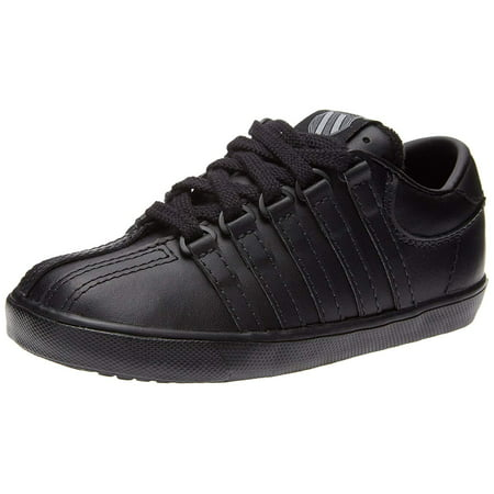 K-Swiss Shoes Classic Leather Infant Toddler Girls/Boys Black Sneakers