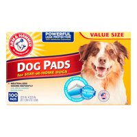 Arm & hammer puppy pads with baking soda, 22.5 in x 22.5 in, 100 count