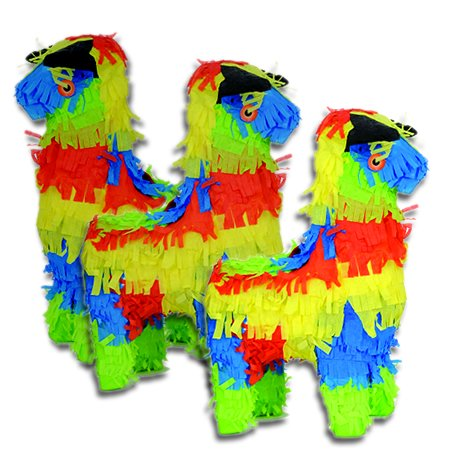 Mini Bull Pinata Party Favors - 3 Pieces