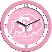 Suntime ST-CO3-COB-PWCLOCK Colorado Buffaloes-Pink Wall Clock