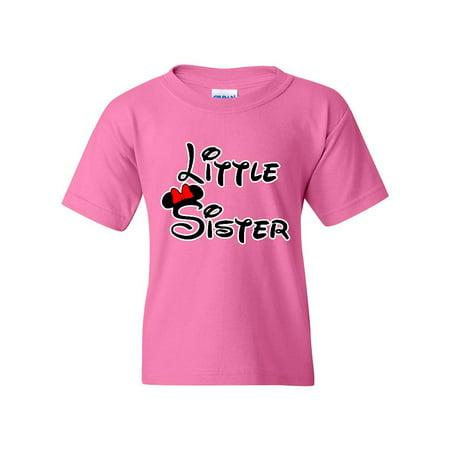 Cartoon Girl Little Sister Unisex Youth Kids T-Shirt Tee Little Kid Azalea