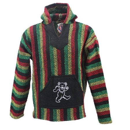 Earth Ragz Grateful Dead Adult Striped Rasta Dancing (Diad Jacket)
