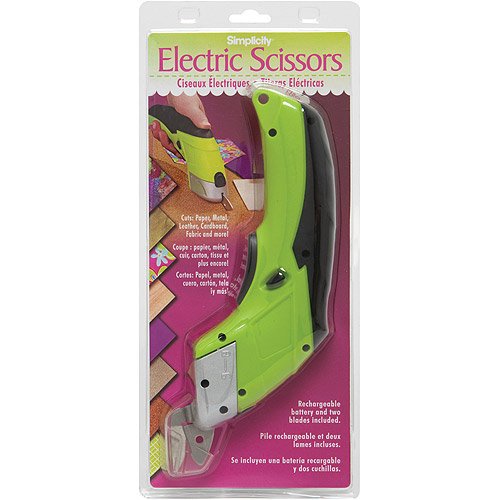 Wrights Battery Operated Electric Scissors, Lime Green