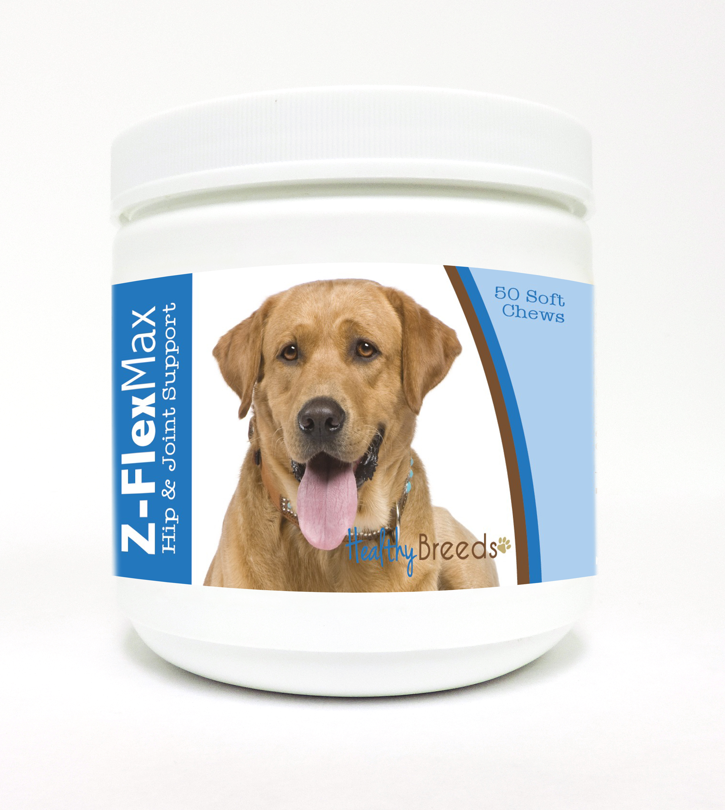 Healthy Breeds Labrador Retriever Z-Flex Max Dog Hip & Joint Support Soft Chews 50 Count