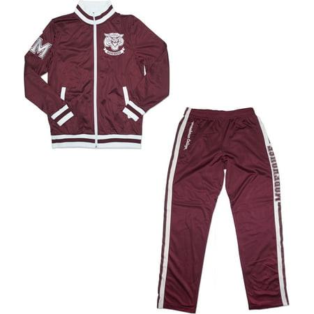 new styles e0cf3 a9589 Big Boy Morehouse Maroon Tigers Mens Jogging Suit Set [Maroon - 2XL]