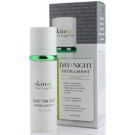 Skin Therapist 55+ Day and Night Face Cream for Wrinkles, Dark Spots, and Dry Skin. Anti-aging cream with Hyaluronic Acid and Jojoba Oil firms skin and instantly hydrates dry
