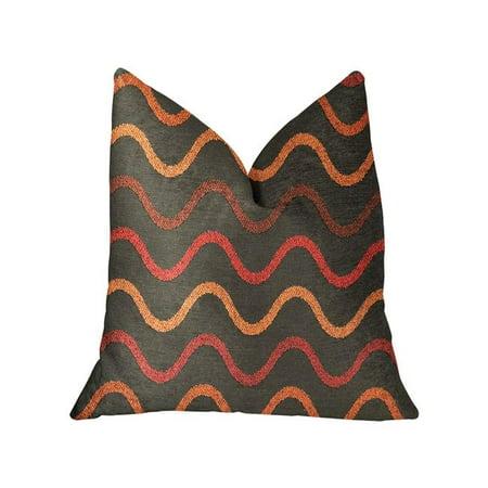 Plutus PBRA2305-2030-DP Serenity Flow Gray & Orange Luxury Throw Pillow, 20 x 30 in. Queen - image 3 de 3