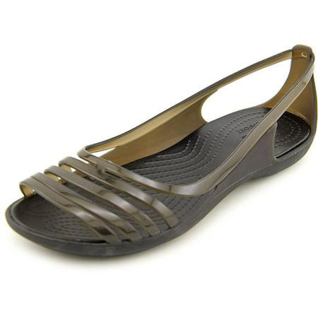 183ad06364c Crocs Isabella Huarache Flat Women Peep-Toe Synthetic Flats ...