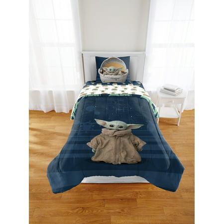 Baby Yoda Twin/Full Comforter and Sham Set
