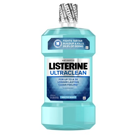 Listerine Ultraclean Oral Care Antiseptic Mouthwash, Arctic Mint, 1 l