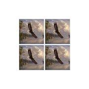McGowan TT92080 Tuftop Eagle Coasters Set of 4